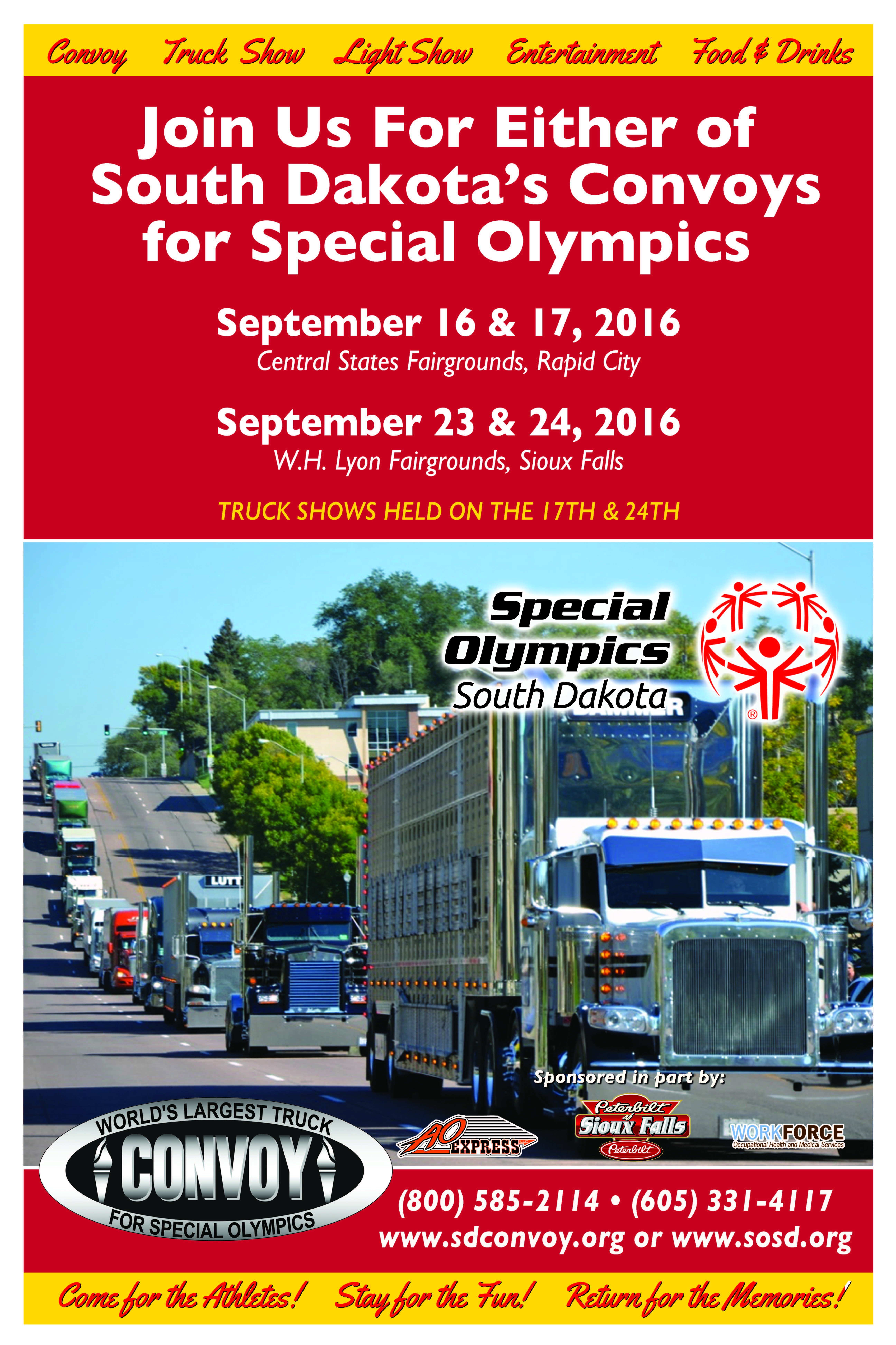 It is a photo of Lucrative Special Olympics Poster