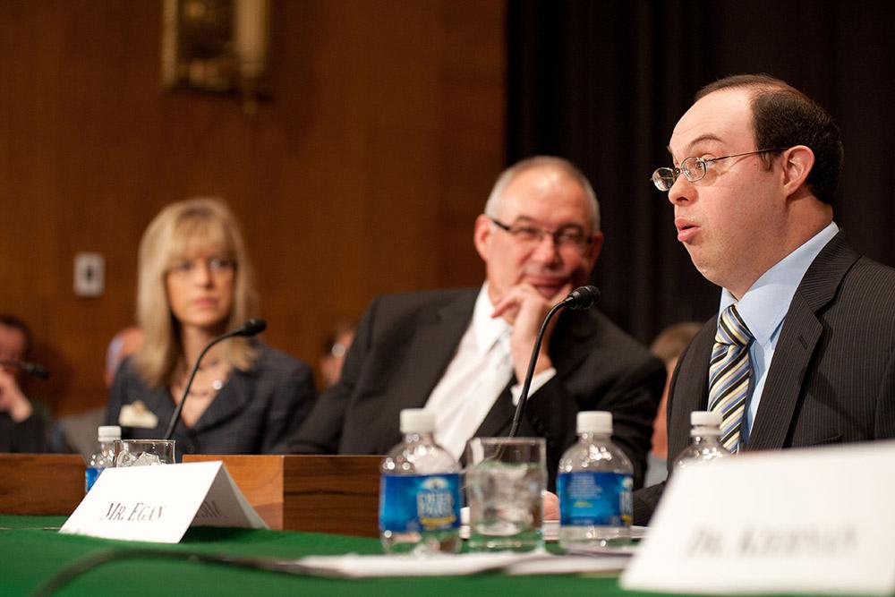 David Egan testifying