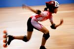 a athlete  skating