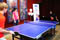 Special Olympics Malaysia athletes connected with guests at interactive basketball and table tennis stations during the pre function hour, surprising the business executives with their keen sporting skills.<br /><span>Photo Credit: Special Olympics Asia Pacific</span>