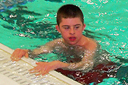 Swimming is Jordan's favorite activity and the Wiggins family goes swimming a couple of times a week at the Y as a family.  <br /><span></span>