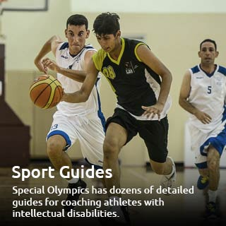 Sports Guide of two athletes playing basketball