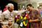 Muhammed Ali gets a playful punch from Nobel Peace Prize recipient  Nelson Mandela of South Africa. Both men are among dozens of internationally  known supporters of Special Olympics mission of acceptance and opportunity for  people with intellectual disabilities.<br /><span></span>